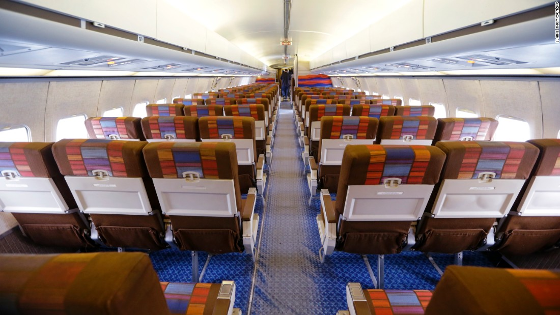 The last time this airliner flew passengers was 1991. Its interior has been restored to the very colorful seating style of that day. The Museum of Flight estimates this specific plane flew about 3 million passengers during its 28 year career.