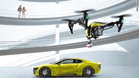 Rinspeed Etos self-driving concept - Swiss tuner Rinspeed's self-driving concept with in-built drone is something else. The drone can take off and film you while you're driving!