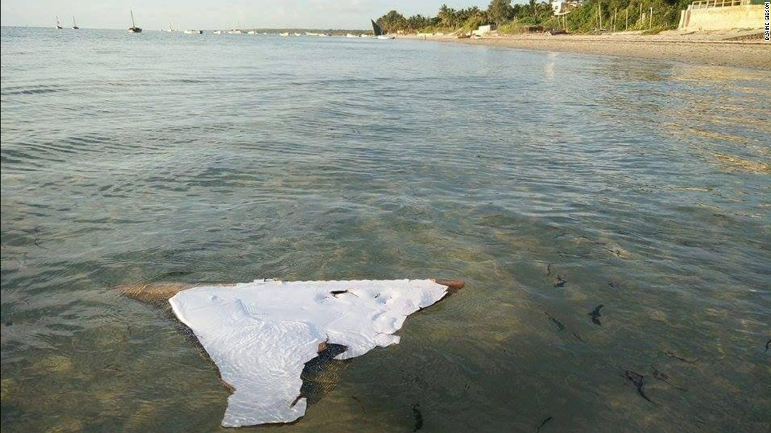 In late February 2016, American tourist Blaine Gibson found a piece of plane debris off Mozambique, a discovery that renewed hope of solving the mystery of missing Malaysia Airlines Flight 370. The piece measures 35 inches by 22 inches. A U.S. official said it was likely the wreckage came from a Boeing 777, like MH370. Others were more skeptical.