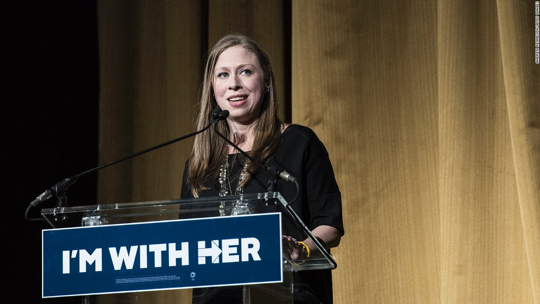 The Clintons' daughter, Chelsea