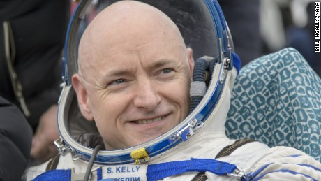 Expedition 46 Commander Scott Kelly of NASA rest in a chair outside of the Soyuz TMA-18M spacecraft just minutes after he and Russian cosmonauts Mikhail Kornienko and Sergey Volkov of Roscosmos landed in a remote area near the town of Zhezkazgan, Kazakhstan on Wednesday, March 2, 2016 (Kazakh time). Kelly and Kornienko completed an International Space Station record year-long mission to collect valuable data on the effect of long duration weightlessness on the human body that will be used to formulate a human mission to Mars. Volkov returned after spending six months on the station. Photo Credit: (NASA/Bill Ingalls)