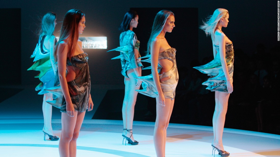 Spring-Summer 2009's finale saw models wear molded latex dresses hand-painted with images of crushed cars, while wine glasses were smashed behind them. It alluded to the inevitable crash that follows a fast-paced lifestyle.
