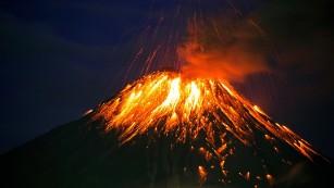Recently active volcanoes