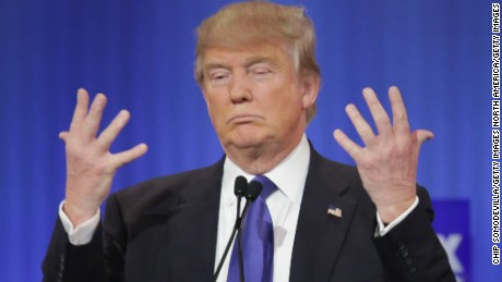 "Republican candidate Donald Trump reassures voters there was ""no problem"" with his hands or anything else for that matter"