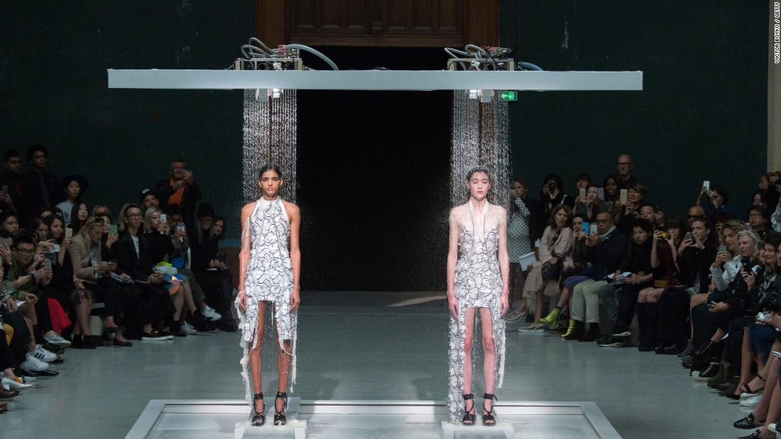 "Fashion designer <a href=""http://edition.cnn.com/2016/03/03/fashion/hussein-chalayan-innovation-and-the-fashion-industry/index.html"" target=""_blank"">Hussein Chalayan</a> creates innovative pieces. At the Spring-Summer 2016 show, he showcased paper dresses that dissolve with water."
