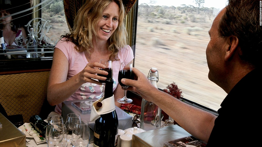New York to London express leaving from platform six? Meet us for Champagne in the dining car.