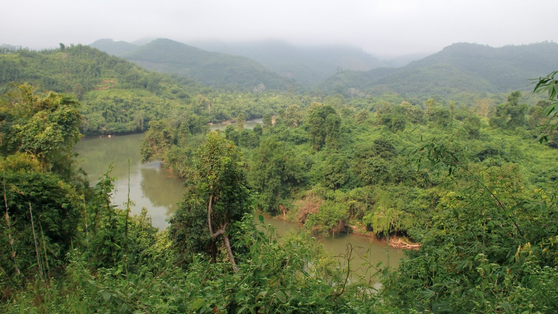 In the Laos jungle (pictured) Marquis suffered from dengue fever.