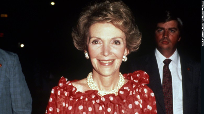 UNSPECIFIED - CIRCA 1980s: First Lady Nancy Reagan circa the 1980s. (Photo by Images Press/IMAGES/Getty Images)