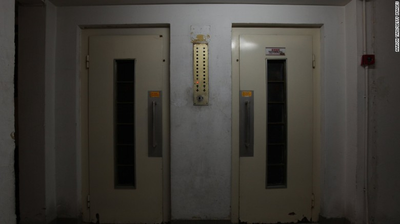 A Hong Kong elevator is shown in this file photo.
