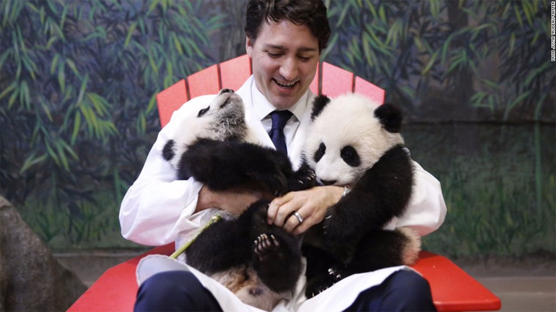 "Canada came in sixth place, but we're pretty sure it would have ranked higher if Canadians had been surveyed after <a href=""http://www.cnn.com/2016/03/07/living/toronto-zoo-giant-panda-cubs-named-irpt/"">these adorable giant panda cubs were born</a>. Prime Minister Justin Trudeau, who knew a good photo op when he saw one, helped unveil their names (Jia Panpan and Jia Yueyue) in March."