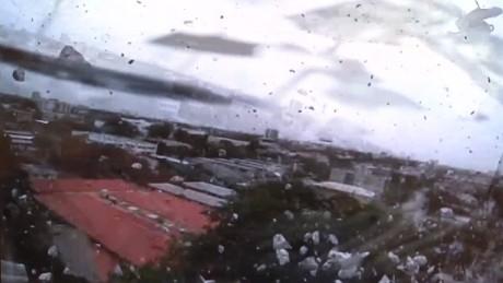 garbage truck crashes off overpass dash cam pkg_00004204