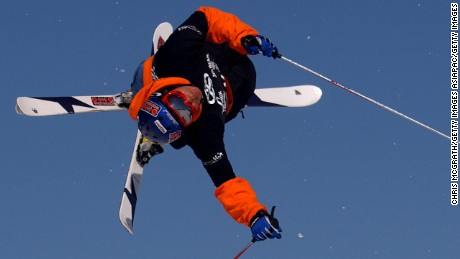 05 Sep 2001:   Candide Thovex #10 of France in action  during the Slopestyle Skiing Expression session at the Planet X Winter games being held at, Perisher Blue Ski Resort, Jindabyne, Australia. DIGITAL IMAGE Mandatory Credit: Chris McGrath/ALLSPORT