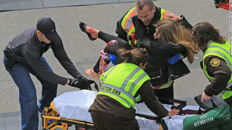 Victoria McGrath was injured by shrapnel in the Boston Marathon attack.