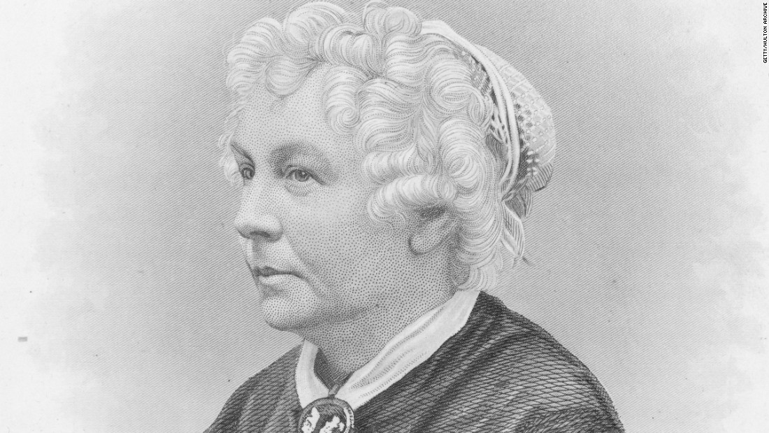 """Elizabeth Cady Stanton was the first woman to run for a seat in the U.S. House of Representatives. She was a leader of the suffragette movement along with Lucretia Mott and Susan B. Anthony. She was also the editor of the feminist magazine """"Revolution."""""""