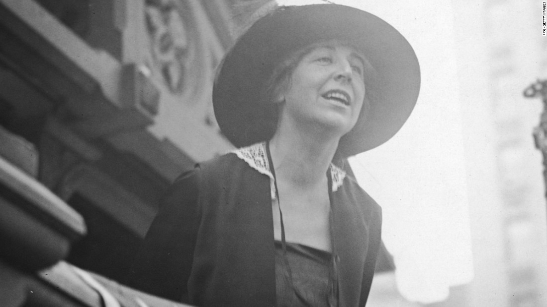 In 1916, Jeannette Rankin was the first woman to be elected to the U.S. House of Representatives. The Republican from Montana was the only member of Congress to vote against U.S. entry in both World War I and World War II.