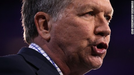 NATIONAL HARBOR, MD - MARCH 04:  Republican presidential candidate Gov. John Kasich of Ohio speaks during CPAC 2016 March 4, 2016 in National Harbor, Maryland. The American Conservative Union hosted its annual Conservative Political Action Conference to discuss conservative issues.  (Photo by Alex Wong/Getty Images)