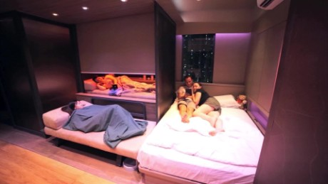 Dream Home Crammed Into 309 Sqft Transformer Apartment Cnn Video