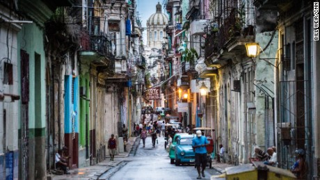 The colorful and texture-filled streets of Old Havana.