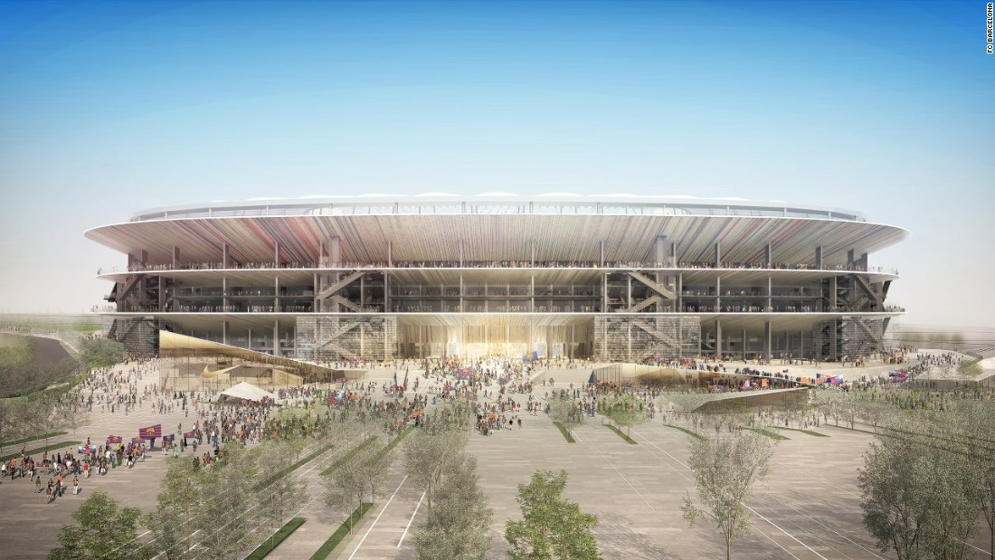 """The club statement went on: """"In short, it is a unique solution, reproducing the characteristic vision of the grandstand and canopy, from the inside out, a silent and powerful tribute to the stadium built by Francesc Mitjans in 1957."""""""