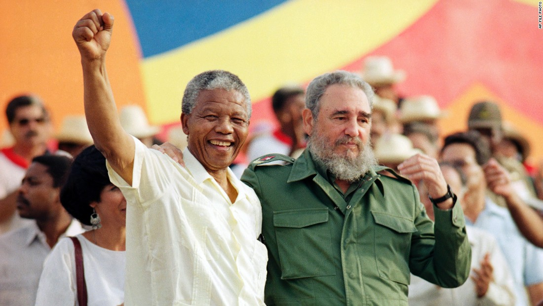 Shortly after being released from prison in 1990, Nelson Mandela visited Cuba and shook hands with Castro. Castro and Mandela were friends. In 1994, when Mandela became the first black President of South Africa, Castro was a guest of honor at his inauguration.