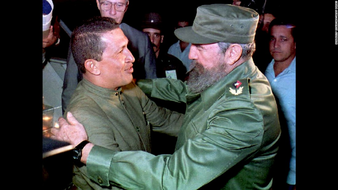 Former Venezuelan President Hugo Chavez was one of Fidel Castro's closest allies. Their friendship spanned almost two decades. Chavez visited Cuba for the first time in 1994, shortly after his release from jail for his involvement in a failed government coup. Chavez visited Cuba many times in the years after that visit.  He also received medical treatment on the island until his death in 2013.