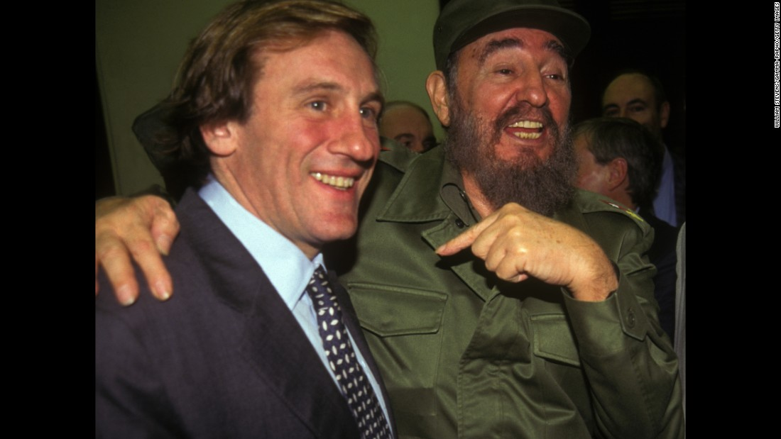 """How could I miss this opportunity? Fidel, much more than a man, is a great idea."" Those were French actor Gerard Depardieu's first words upon arriving in Havana. The actor has been to the island multiple times, including a celebration for Castro's 80th birthday in 2006."