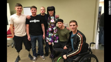 Ncis quot cast member pauley perrette center poses with the musicorps