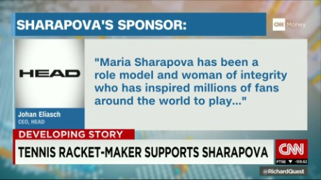 HEAD Tennis stands by Maria Sharapova amidst scandal
