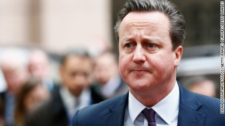 British Prime Minister David Cameron arrives for The European Council Meeting In Brussels held at the Justus Lipsius Building on March 7, 2016 in Brussels, Belgium. EU leaders are meeting with Turkish Prime Minister Ahmet Davutoglu in Brussels, to discuss the worst refugee crisis since the Second World War, as thousands of migrants remain stranded in Greece after borders along the Balkan route to Germany are closed. (Photo by Dean Mouhtaropoulos/Getty Images)