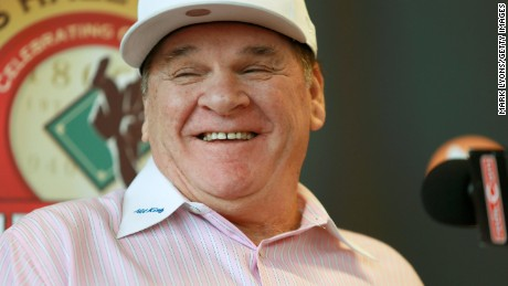 Former Cincinnati Reds player Pete Rose speaks during a press conference at the Champions Club at Great American Ball Park on January 19, 2016  in Cincinnati, Ohio. Rose was introduced as the latest member of the Cincinnati  Reds Hall of Fame and will be inducted at a game in June.