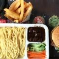 DaDong burger combo and noodles