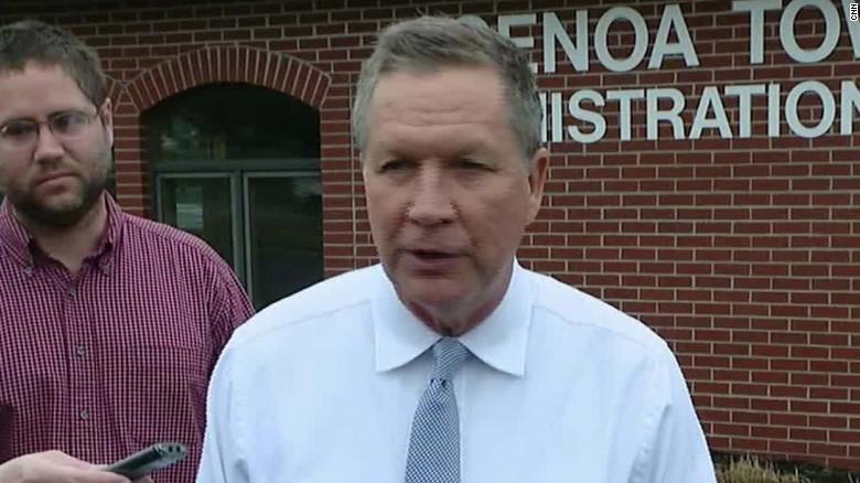 John Kasich casts his vote in Ohio