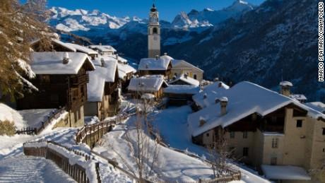 Champoluc ski resort in Italy