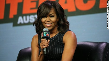 AUSTIN, TX - MARCH 16:  First Lady Michelle Obama speaks on stage during the SXSW Keynote: Michelle Obama during 2016 SXSW Music, Film + Interactive Festival at Austin Convention Center on March 16, 2016 in Austin, Texas.  (Photo by Neilson Barnard/Getty Images for SXSW)