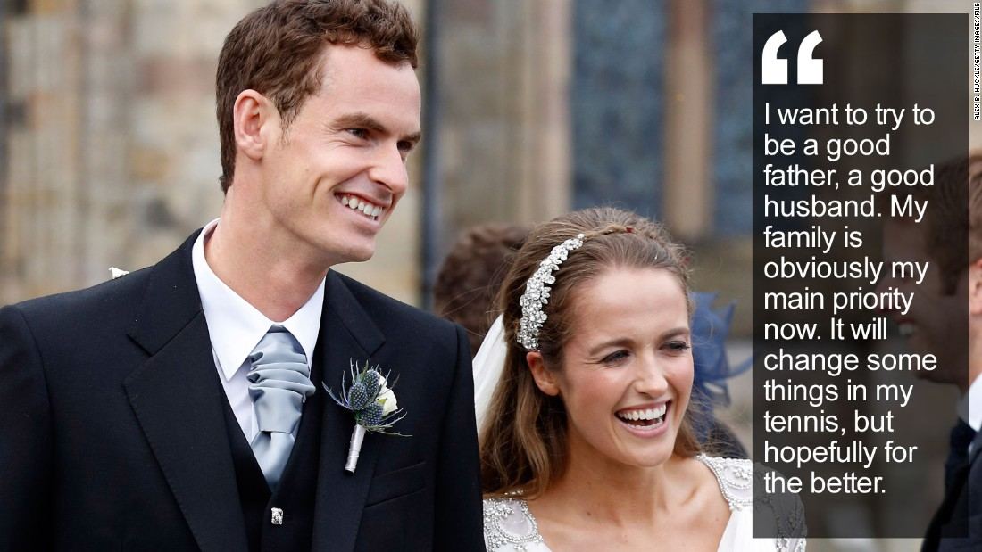"""The tennis star has a new focus after becoming a father for the first time ahead of his Olympic title defense at the Rio 2016 Games. <a href=""""http://edition.cnn.com/2016/03/23/sport/andy-murray-family-olympics-tennis/index.html"""" target=""""_blank"""">Read more</a>"""