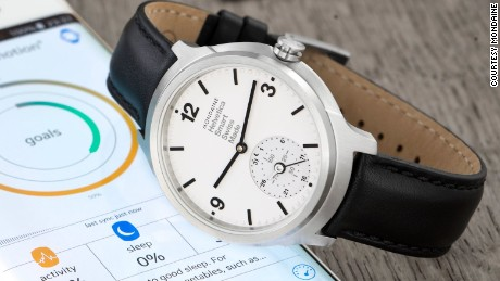 "Described as a ""horological smartwatch"" Swiss brand Mondaine unveiled their smartwatch with an analogue face last year. It is thought to be the first Swiss watch to combine traditional watchmaking with connected technologies."