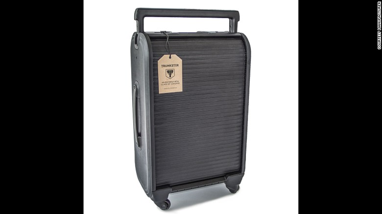 Trunkster is part of a new-wave suitcases that dispense with zippers in favor of a roll-top sliding door.