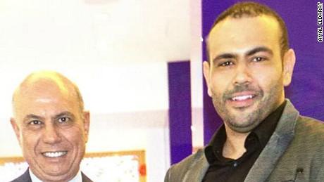 Real estate developer Kamal Eldarat (L) and his 34-year-old son Mohamed (R).