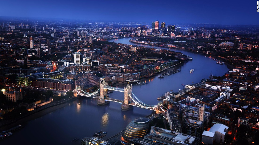 London jumped five spots to capture the top spot this year, according to TripAdvisor's 2016 Travelers' Choice Destination awards.