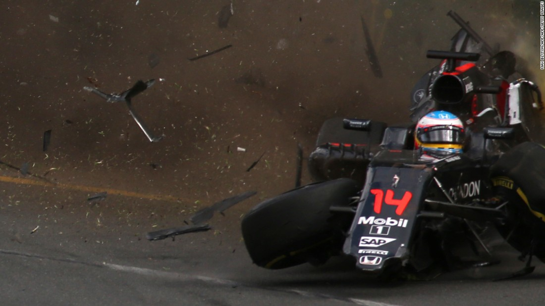 Spanish driver Fernando Alonso suffered a bad crash at the Australian Grand Prix this year. Alonso missed the following race in Bahrain due to fractured ribs.
