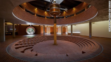 One of the interiors of the Red Brick Art Museum, on the outskirts of Bejing. Built by poroperty developer Yan Zhijie, the building is beautiful, but remains largely empty of art.