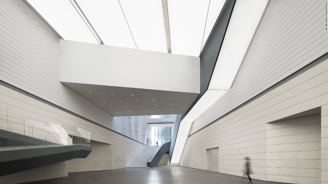 The Yinchuan Museum of Contemporary Art was designed by Chinese architects, we architech anonymous (waa). Yinchuan is an industrial city in the Ningxia Hui Autonomous Region, northwest China.