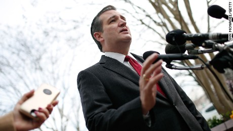 Ted Cruz addresses the bombings in Brussels during remarks March 22, 2016, in Washington.