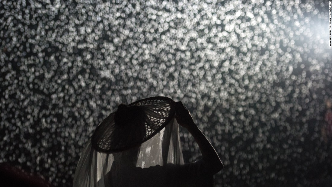 The Rain Room exhibition by the artists Random International.