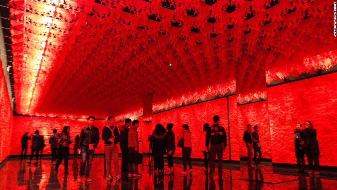 The interior of the Today Art Museum in Beijing.