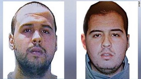 Brothers Khalid El Bakraoui, left, and Ibrahim El Bakraoui, right.