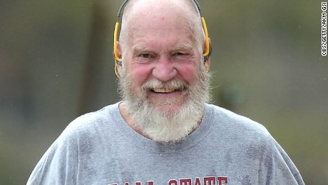 David Letterman's new retirement look
