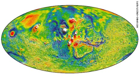NASA gravity map offers closest ever look at Mars