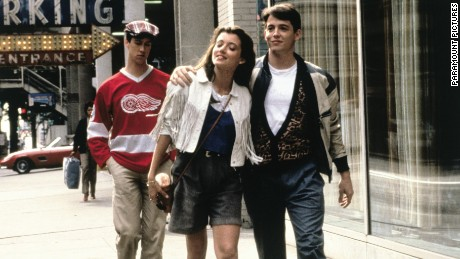Matthew Broderick, Mia Sara and Alan Ruck in Ferris Bueller's Day Off