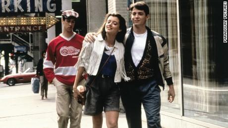 Matthew Broderick, Mia Sara and Alan Ruck in Ferris Bueller's Day Off